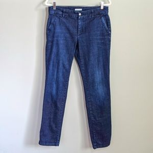 EILEEN FISHER Dark Wash Straight Leg Trouser Jeans